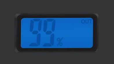 1byone 9000 jumpstarter digital readout closeup
